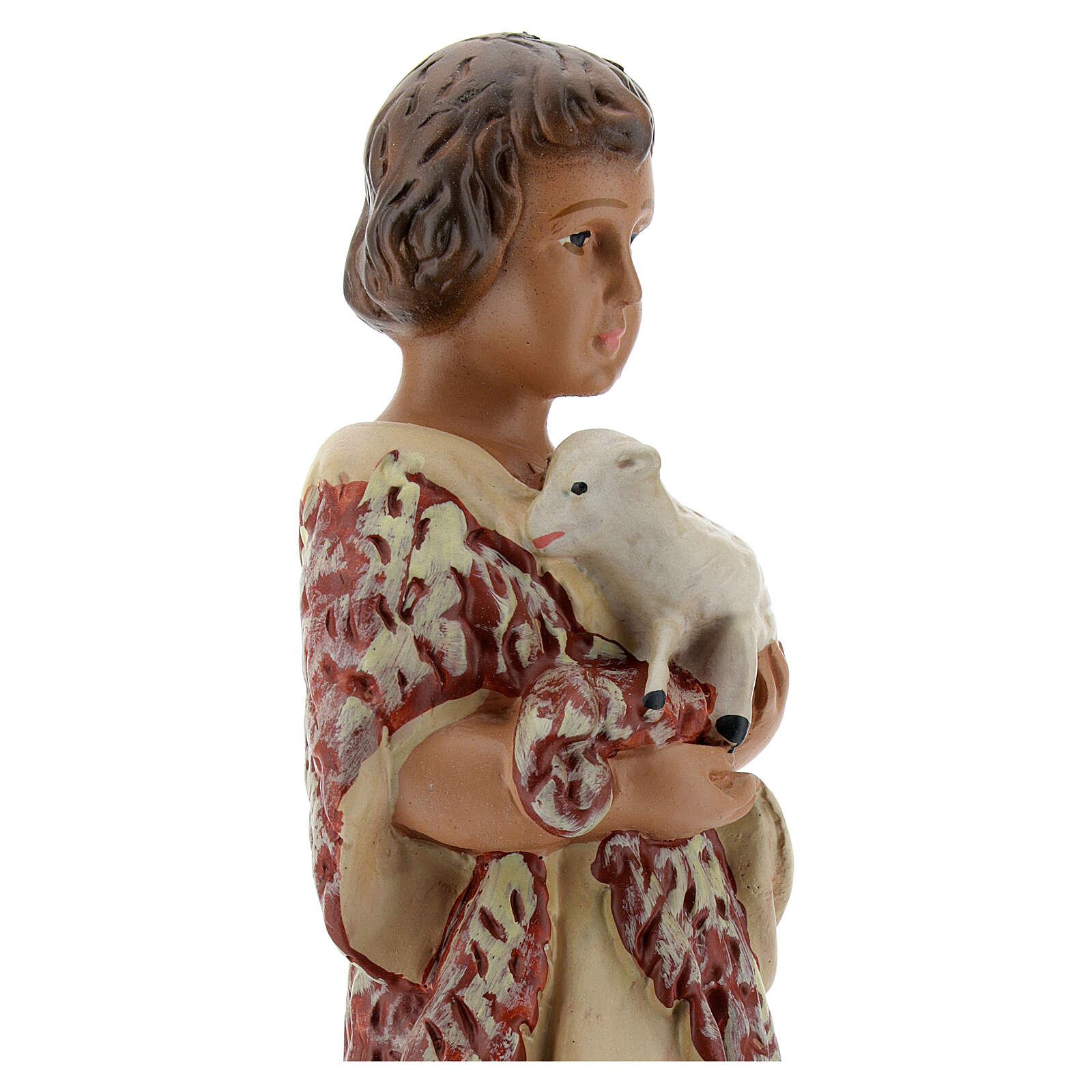 San Juan Bautista niño estatua yeso 20 cm Arte Barsanti 4