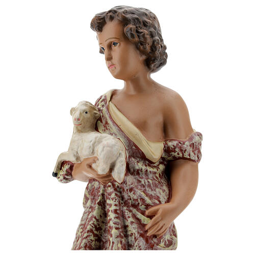 Child St. John the Baptist statue, 30 cm in plaster Arte Barsanti 2