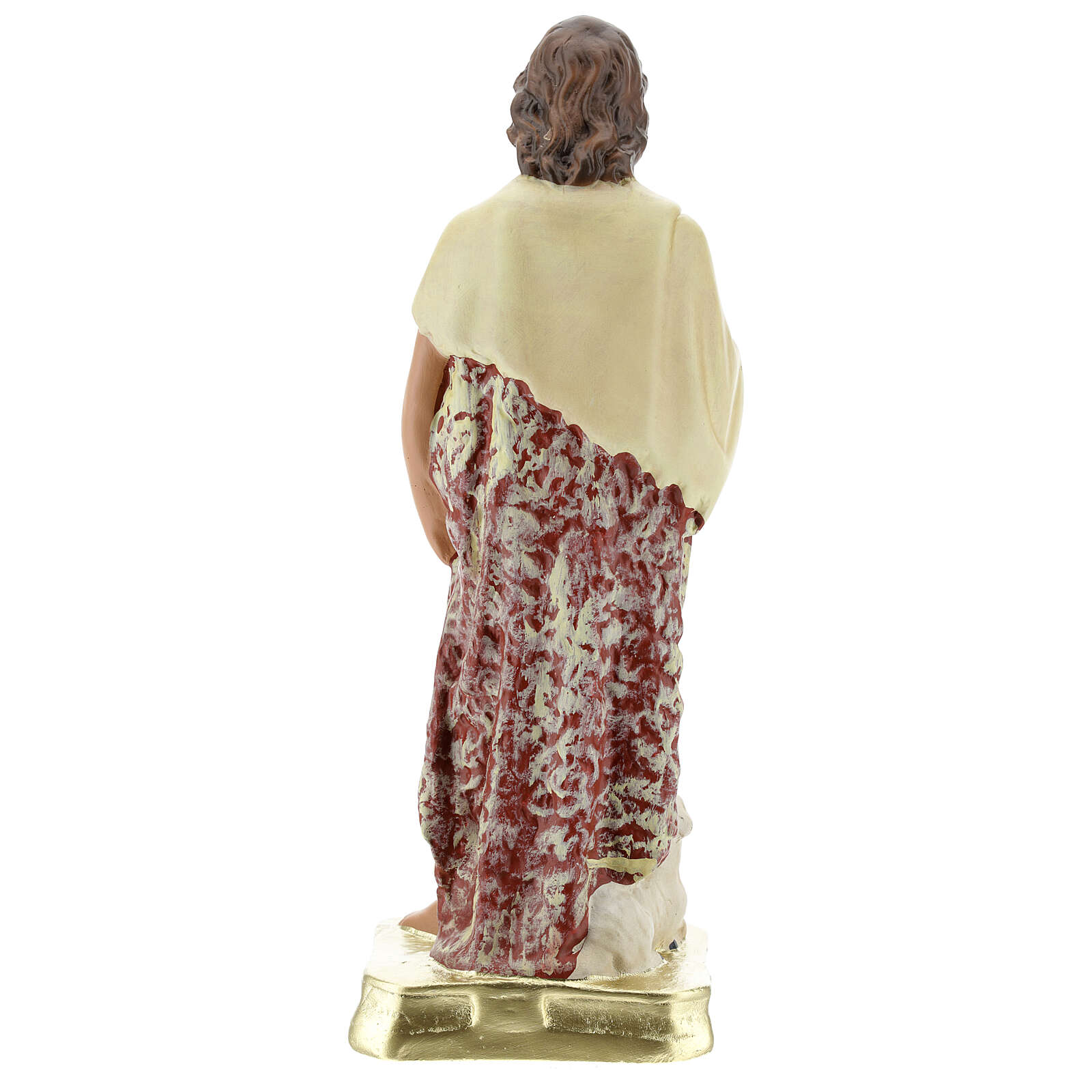 Saint Jean-Baptiste statue plâtre 30 cm Arte Barsanti 4