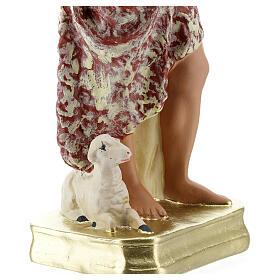 Saint Jean-Baptiste statue plâtre 30 cm Arte Barsanti s4