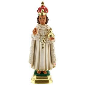 Niño de Praga estatua yeso 20 cm Arte Barsanti s1