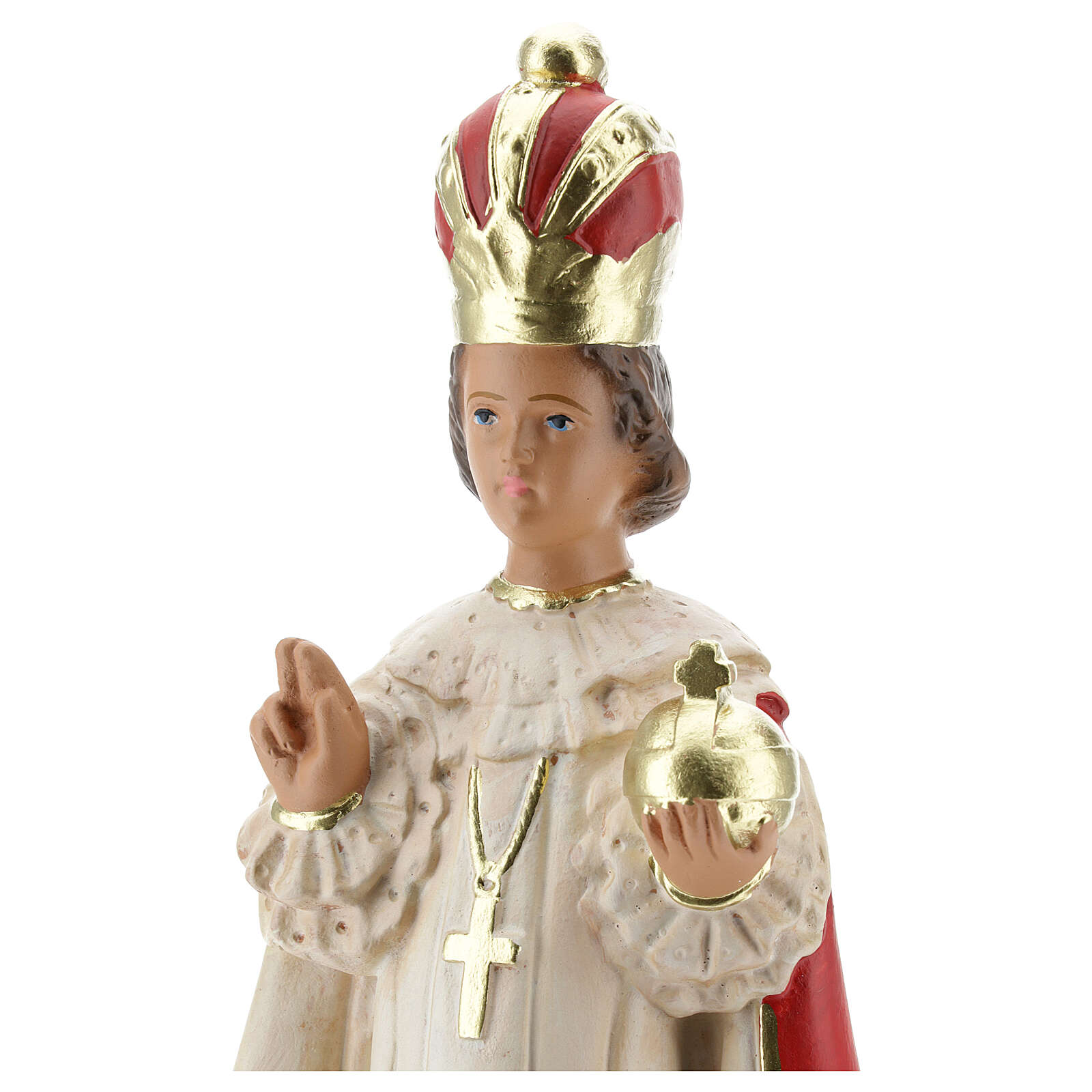Estatua Niño de Praga 30 cm yeso pintado a mano Arte Barsanti 4