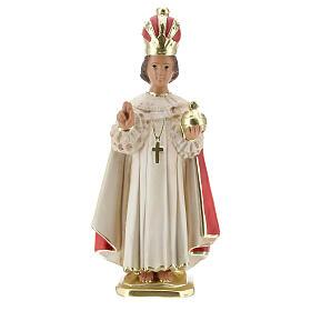 Statue Enfant Jésus de Prague 30 cm plâtre peint main Arte Barsanti s1