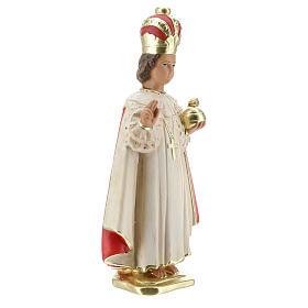 Statue Enfant Jésus de Prague 30 cm plâtre peint main Arte Barsanti s4
