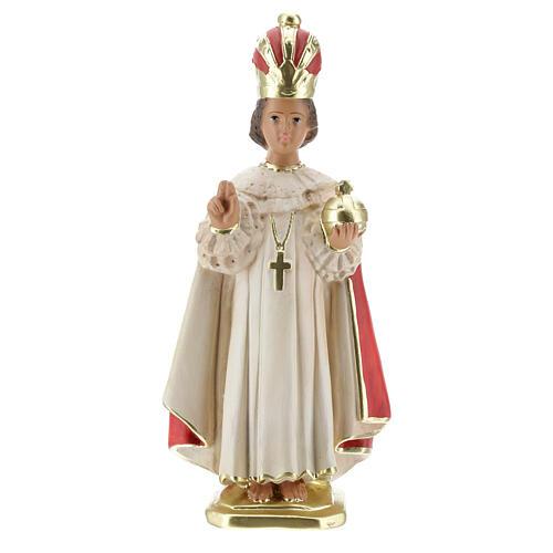 Statue Enfant Jésus de Prague 30 cm plâtre peint main Arte Barsanti 1