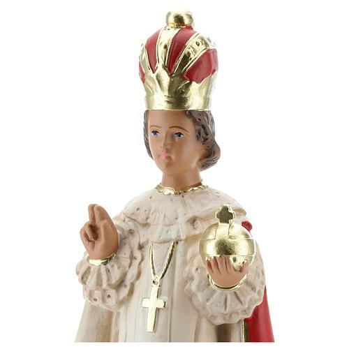 Statue Enfant Jésus de Prague 30 cm plâtre peint main Arte Barsanti 2
