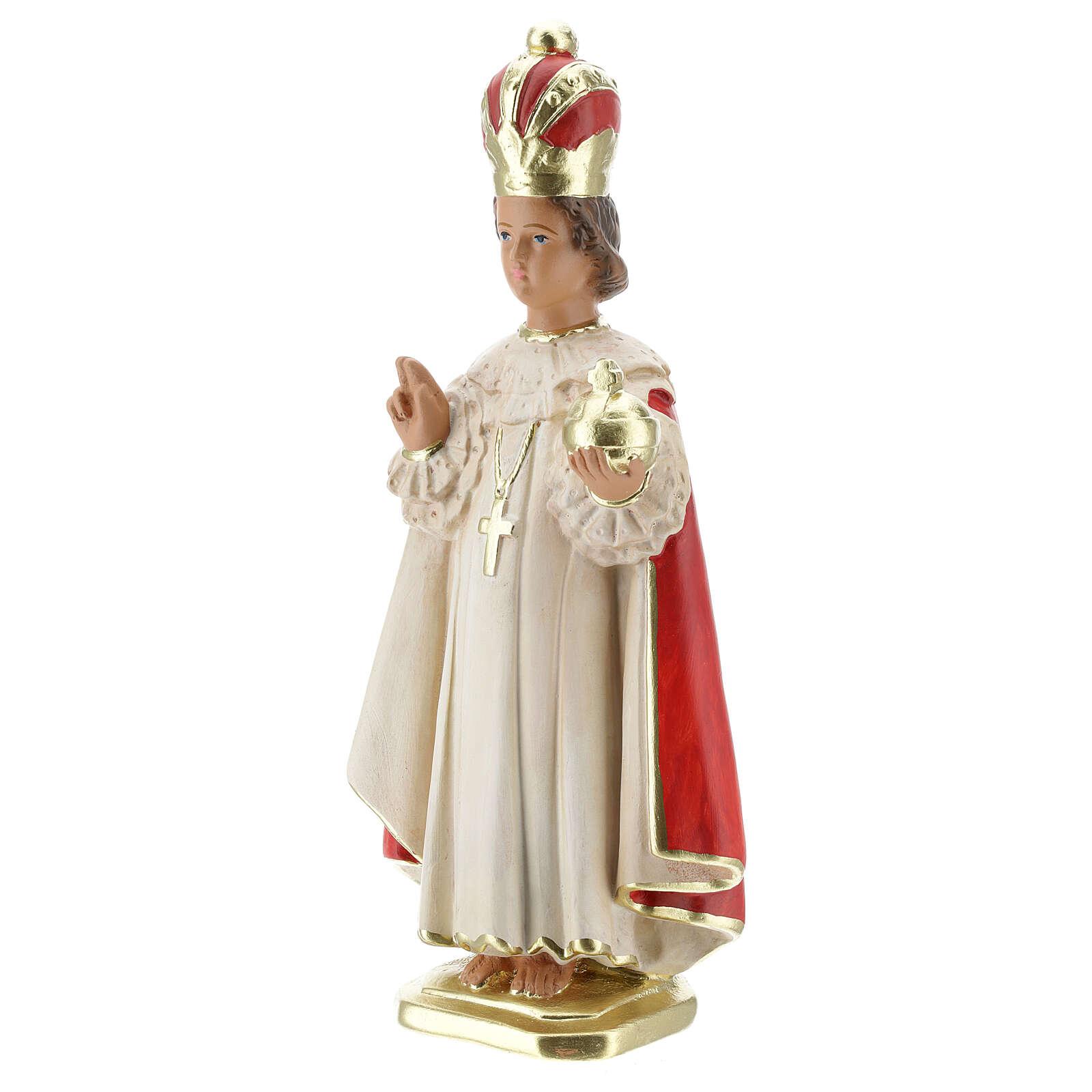Infant of Prague statue, 30 cm hand painted plaster Arte Barsanti 4