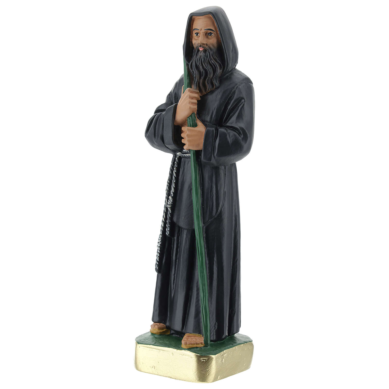 Statue of St Francis of Paola, 20 cm in plaster Arte Barsanti 4