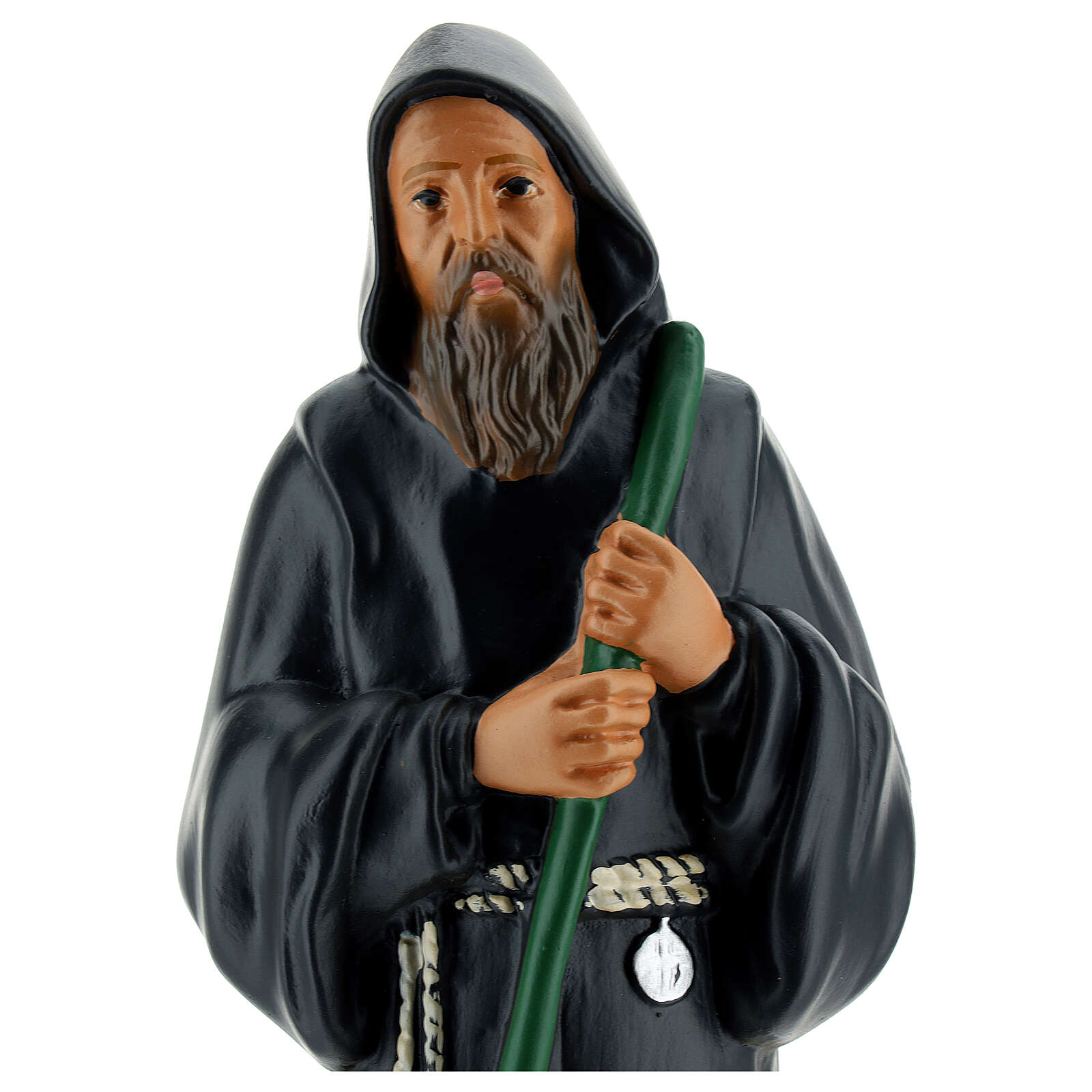 St Francis of Paola statue 12 in hand-painted plaster Arte Barsanti 4