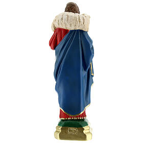Good Shepherd statue 12 in hand-painted plaster Arte Barsanti s5