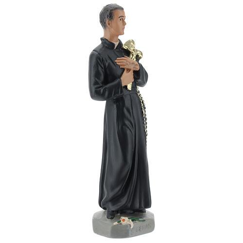 Statuetta San Gerardo gesso 20 cm dipinta a mano Arte Barsanti 4