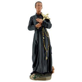 Saint Gérard statue plâtre 30 cm peint main Arte Barsanti s1
