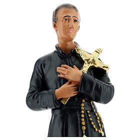 Saint Gérard statue plâtre 30 cm peint main Arte Barsanti s2