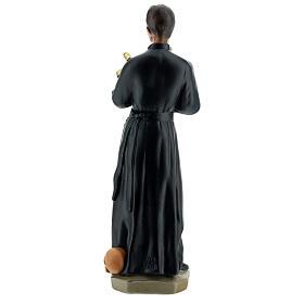 Saint Gérard statue plâtre 30 cm peint main Arte Barsanti s6