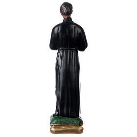 Statue plâtre Saint Gérard 50 cm peint main Arte Barsanti s5