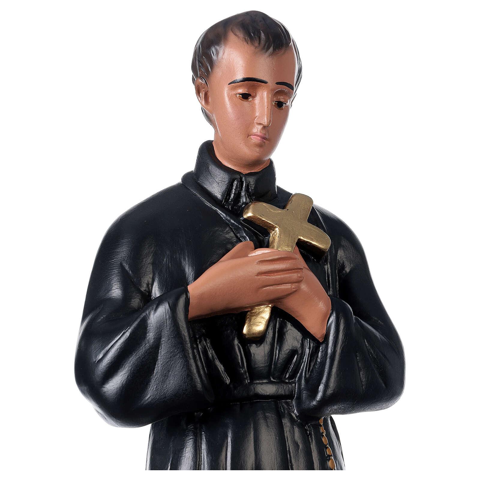 Statua gesso San Gerardo 50 cm dipinto a mano Arte Barsanti 4