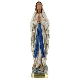 Statue Notre-Dame de Lourdes 20 cm plâtre peint main Barsanti s1