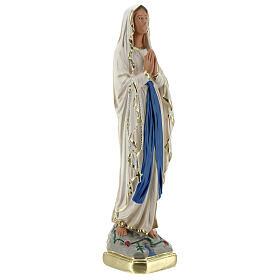 Statue Notre-Dame de Lourdes 20 cm plâtre peint main Barsanti s3