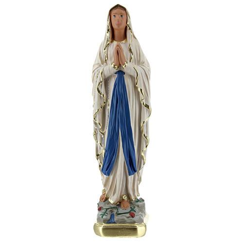 Statue Notre-Dame de Lourdes 20 cm plâtre peint main Barsanti 1