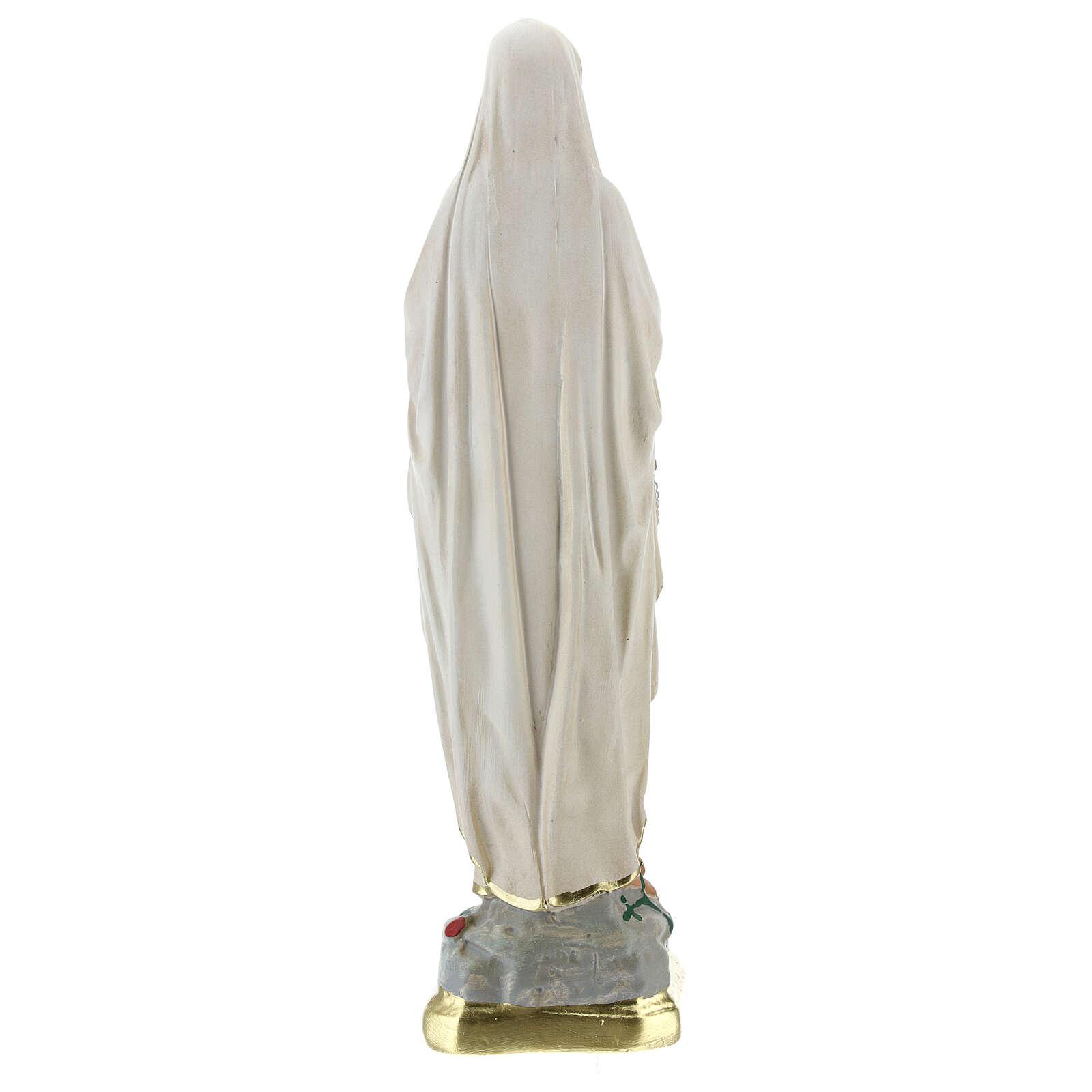 Notre-Dame de Lourdes statue plâtre 25 cm peinte main Barsanti 4