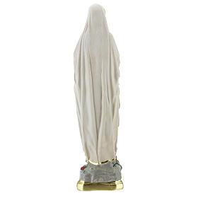 Notre-Dame de Lourdes statue plâtre 25 cm peinte main Barsanti s4