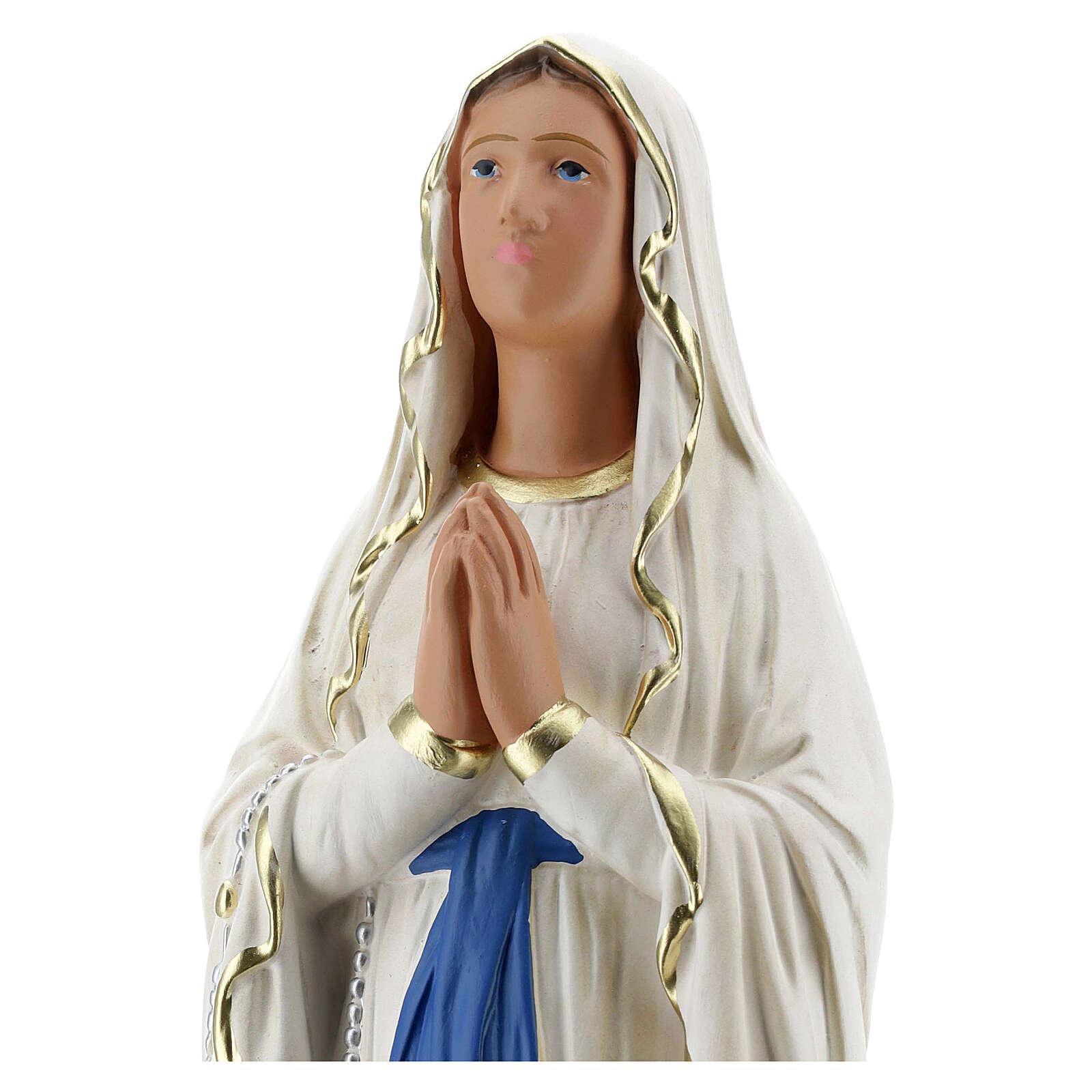 Estatua Virgen de Lourdes 40 cm yeso pintada a mano Barsanti 4