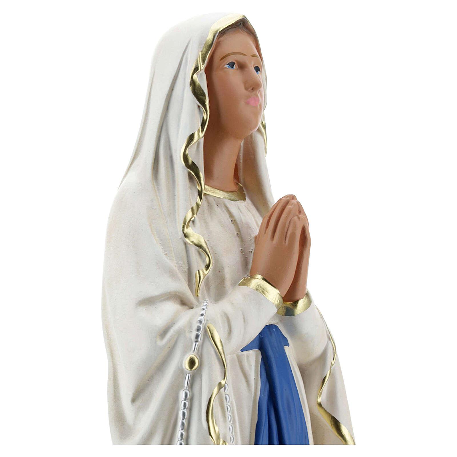 Statua Madonna di Lourdes 40 cm gesso dipinta a mano Barsanti 4