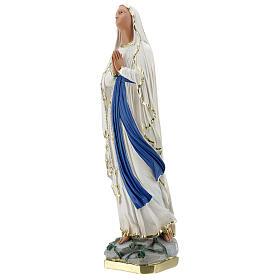 Notre-Dame de Lourdes statue 50 cm plâtre peint main Barsanti s3