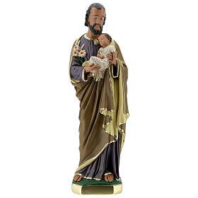 Notre-Dame de Lourdes statue 50 cm plâtre peint main Barsanti s7