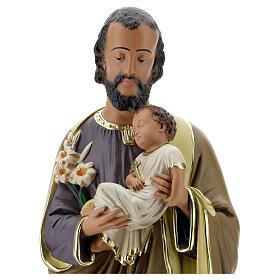 Notre-Dame de Lourdes statue 50 cm plâtre peint main Barsanti s8