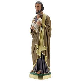 Notre-Dame de Lourdes statue 50 cm plâtre peint main Barsanti s9