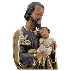 Notre-Dame de Lourdes statue 50 cm plâtre peint main Barsanti s10