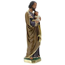 Notre-Dame de Lourdes statue 50 cm plâtre peint main Barsanti s11