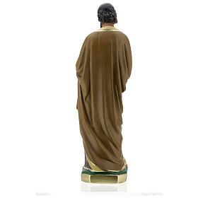 Notre-Dame de Lourdes statue 50 cm plâtre peint main Barsanti s12
