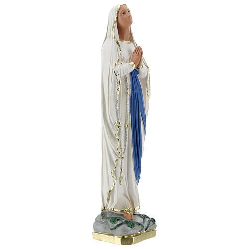 Notre-Dame de Lourdes statue 50 cm plâtre peint main Barsanti 5