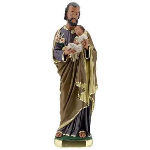 Notre-Dame de Lourdes statue 50 cm plâtre peint main Barsanti 7