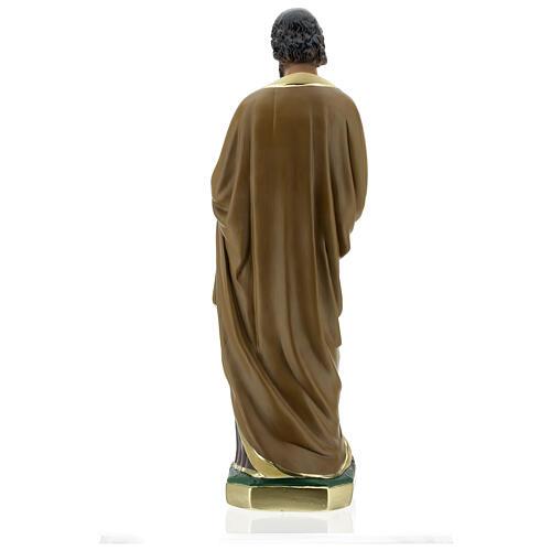 Notre-Dame de Lourdes statue 50 cm plâtre peint main Barsanti 12