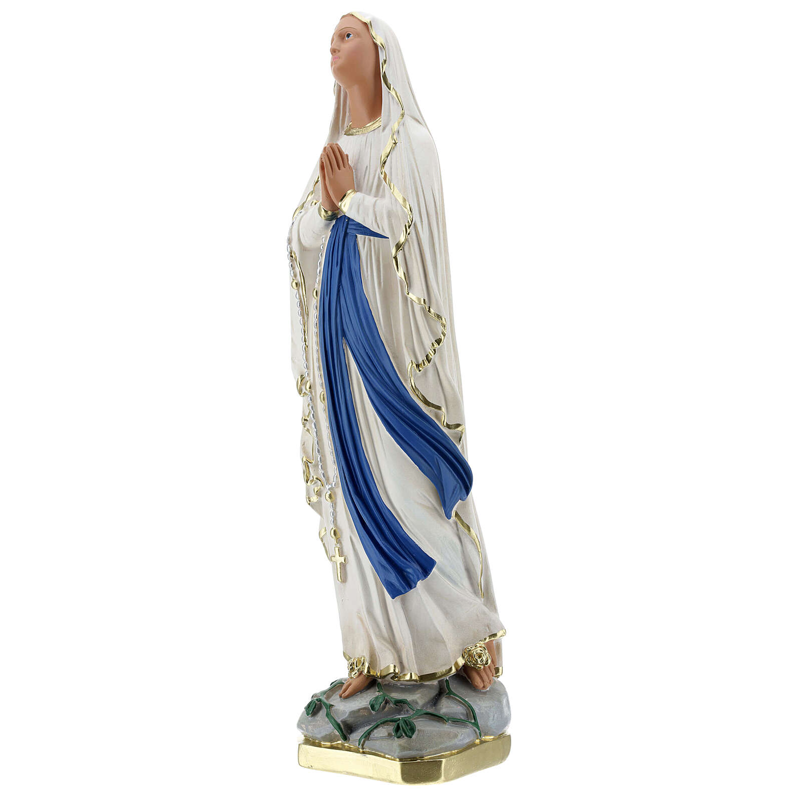 Madonna of Lourdes statue, 50 cm hand painted plaster Barsanti 4