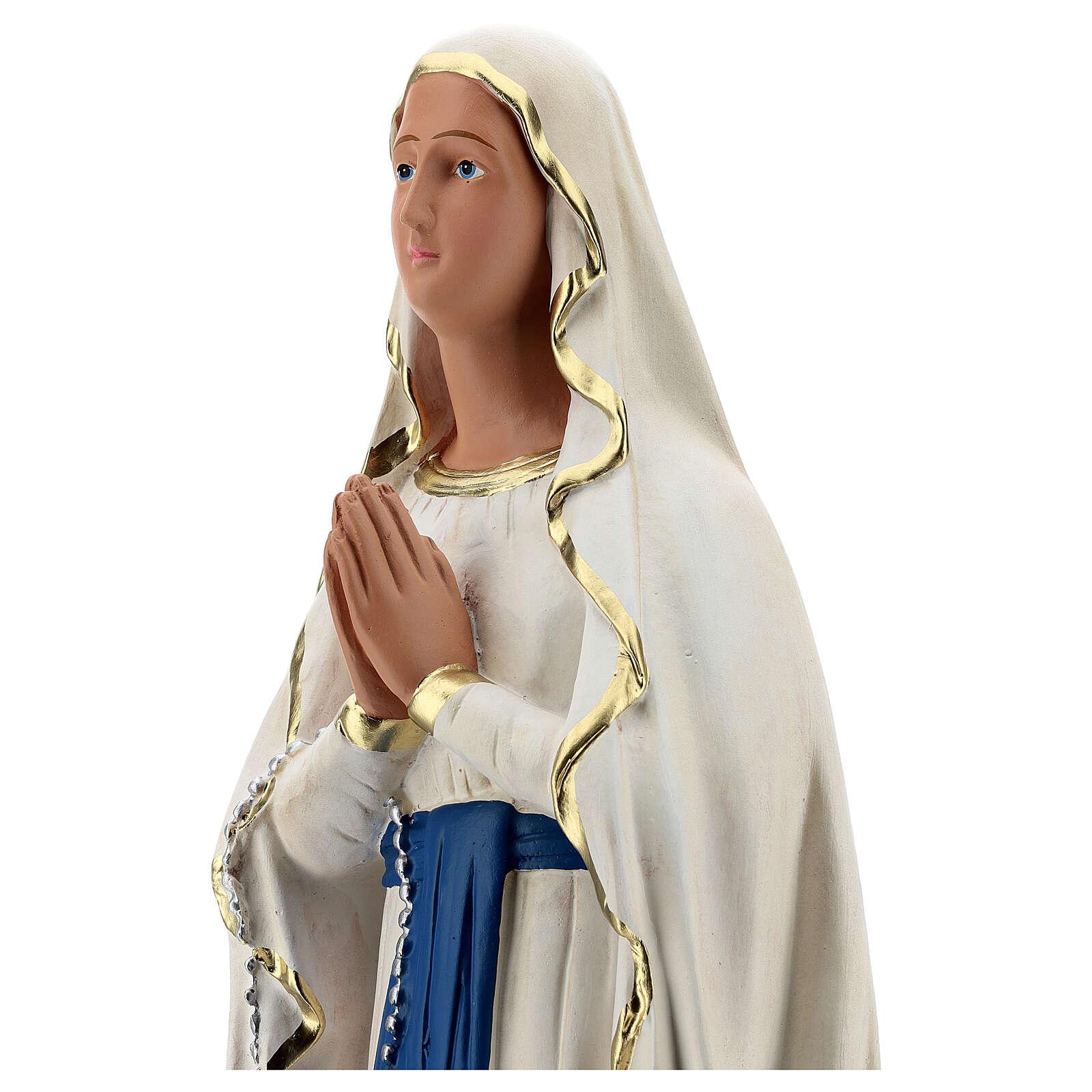 Estatua yeso Virgen de Lourdes 60 cm pintada a mano Barsanti 4