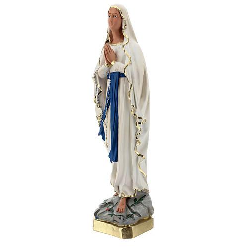 Estatua yeso Virgen de Lourdes 60 cm pintada a mano Barsanti 3