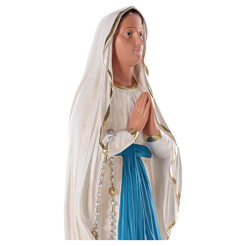 Virgen de Lourdes estatua yeso 80 cm pintado a mano Barsanti 2