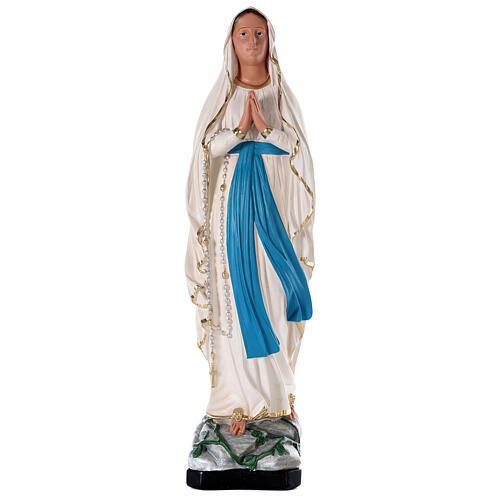 Notre-Dame de Lourdes statue plâtre 80 cm peinte main Barsanti 1