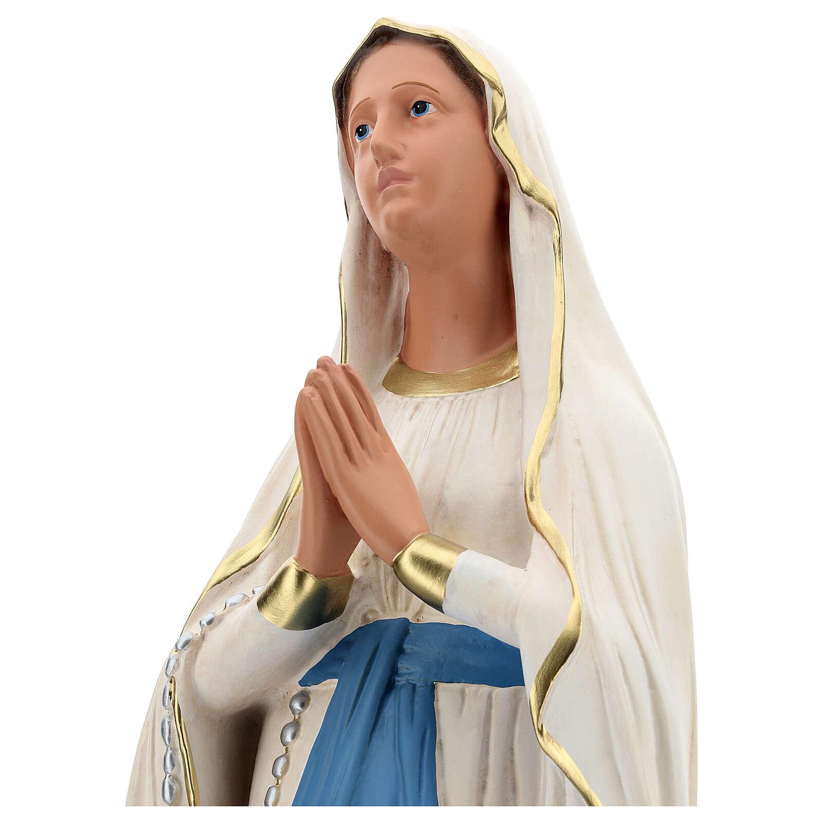 Nossa Senhora de Lourdes imagem resina pintada à mão Arte Barsanti 85 cm 4