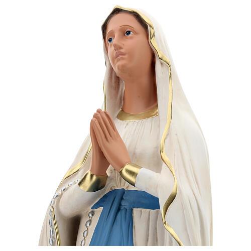 Nossa Senhora de Lourdes imagem resina pintada à mão Arte Barsanti 85 cm 2