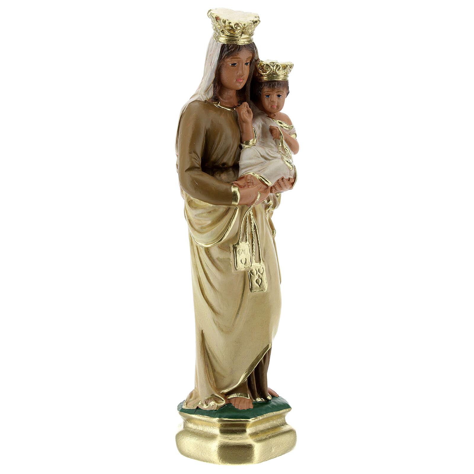Notre-Dame du Mont-Carmel 20 cm statue plâtre Arte Barsanti 4