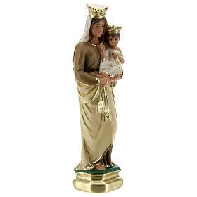 Notre-Dame du Mont-Carmel 20 cm statue plâtre Arte Barsanti s3