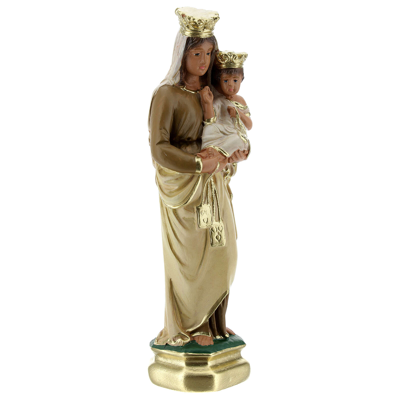 Madonna del Carmine 20 cm statua gesso Arte Barsanti 4