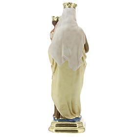 Statue Notre-Dame du Mont-Carmel plâtre 30 cm peint main Barsanti s6