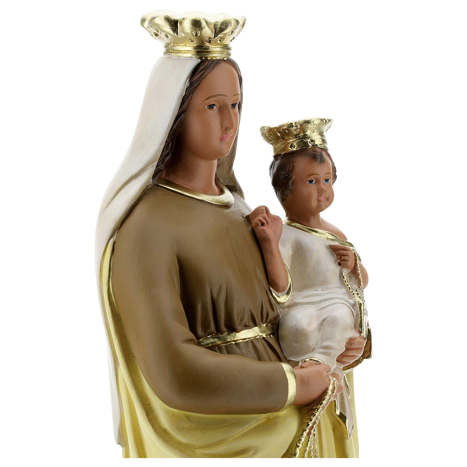 Madonna del Carmine 40 cm statua gesso dipinta a mano Barsanti 4