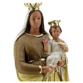 Madonna del Carmine 40 cm statua gesso dipinta a mano Barsanti s4